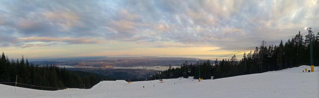 Snowboarding session on Grouse Mountain