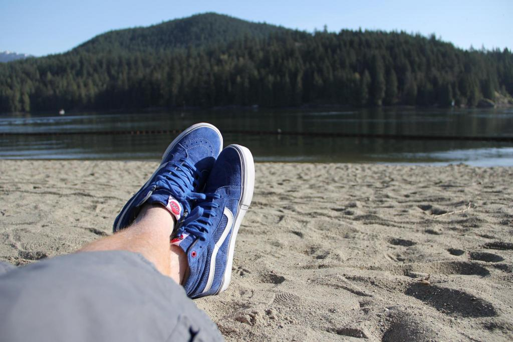 My Vans Sk8-Hi hanging out at the beach