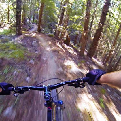 'Grand Wazoo' trail at Lost Lake near Whistler