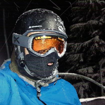 First snowboarding night session of the season on Grouse Mountain